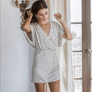 SAYLOR Tory Dress Silver Sequin Small